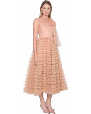 Платье миди из фатина макси Red Valentino