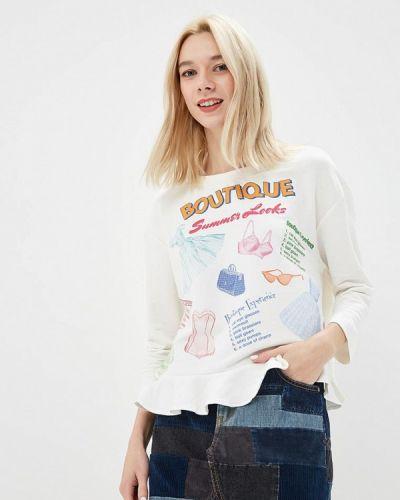 Белый лонгслив Boutique Moschino
