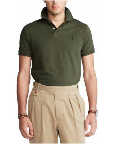 T-shirt z siateczką - zielona Polo Ralph Lauren