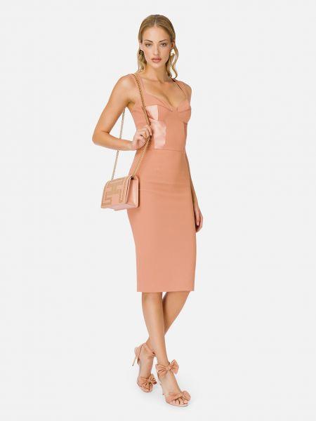Розовое платье на молнии Elisabetta Franchi