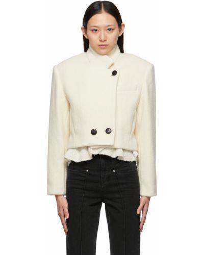 Белая куртка с воротником Isabel Marant
