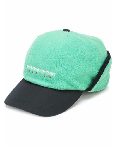 Czarna czapka z nausznikami z haftem This Is Never That