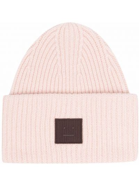 Różowa czapka wełniana Acne Studios