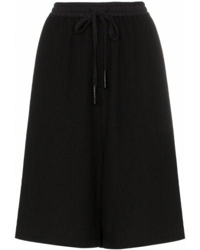 Однобортные черные шорты с карманами Ten Pieces