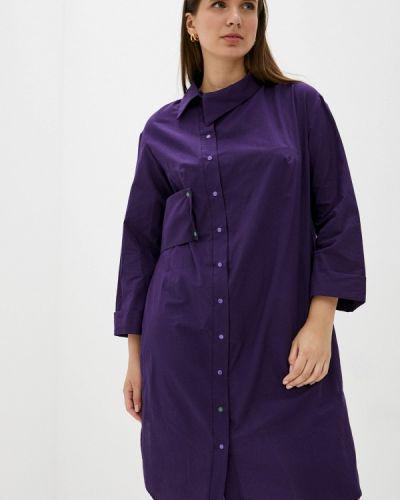 Фиолетовое весеннее платье Adzhedo