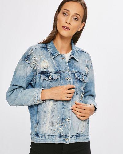 Джинсовая куртка на пуговицах облегченная Haily's
