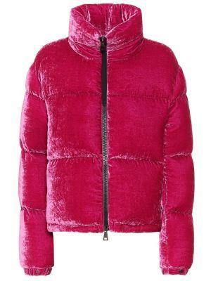 Куртка бархатная розовая Moncler