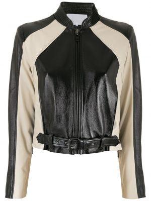 Черная кожаная куртка байкерская Nk