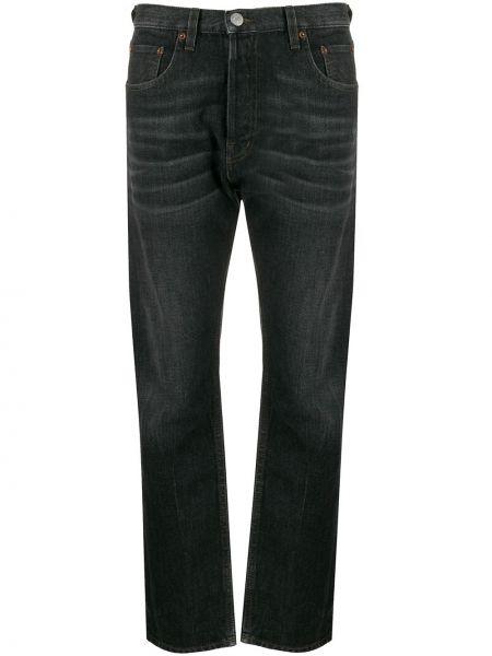 Прямые джинсы черные на пуговицах Haikure