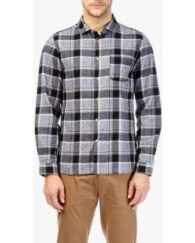 Серая рубашка с длинным рукавом Burton Menswear London