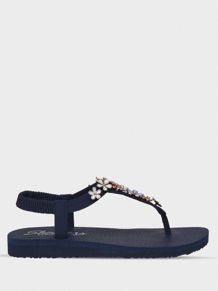 Кожаные сандалии - синие Skechers