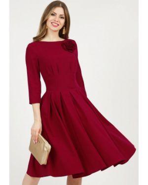 Повседневное платье красный осеннее Olivegrey