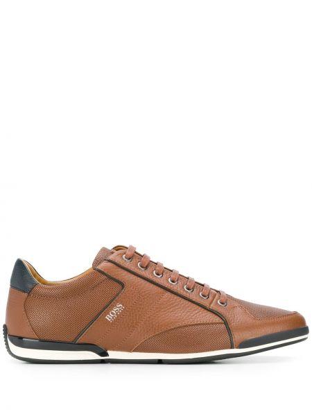 Кожаные кроссовки - коричневые Boss Hugo Boss
