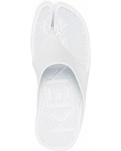 Открытые белые пляжные шлепанцы Kenzo