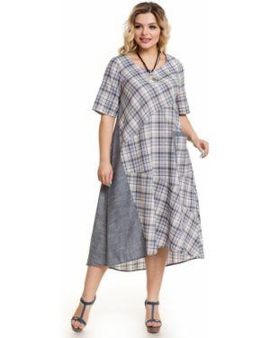 Асимметричное летнее платье в стиле бохо с карманами с вырезом Novita