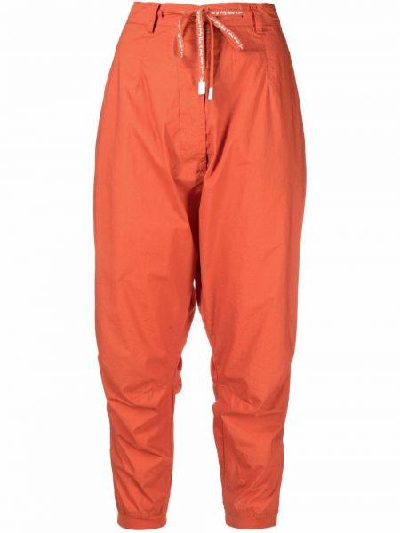 Хлопковые оранжевые брюки с заниженным шаговым швом с завышенной талией Rundholz