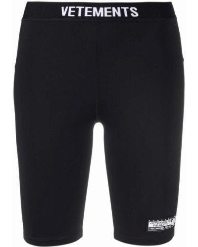 Черные шорты с завышенной талией Vetements