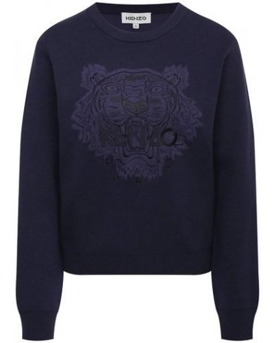 Шерстяной пуловер - синий Kenzo
