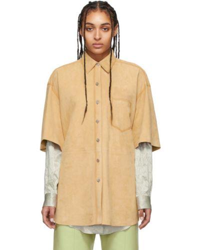 Рубашка без воротника с карманами Acne Studios