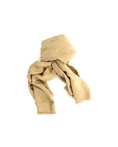 Коричневый шерстяной платок Valentino