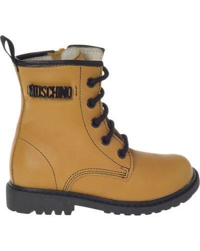 Желтые ботинки Moschino