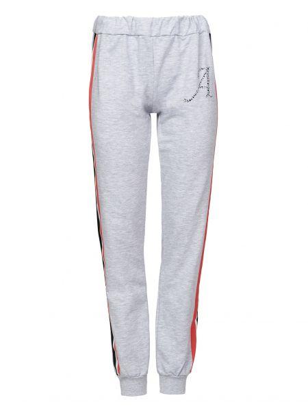 Хлопковые серые спортивные брюки Alessandro Dell'acqua