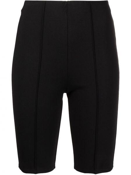 Приталенные черные шорты из вискозы Anine Bing