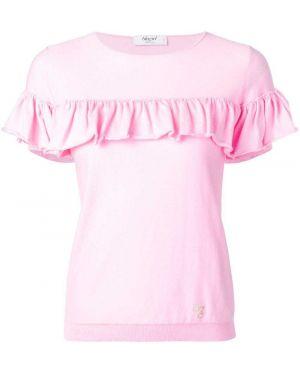 Розовый топ с оборками Blugirl