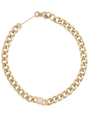 С ромбами желтый золотой браслет с бриллиантом Zoë Chicco