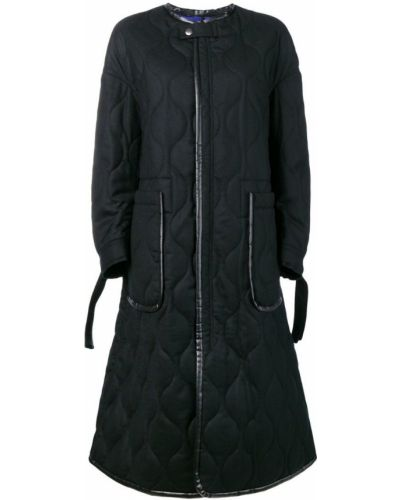 Черное пальто с капюшоном с воротником Ujoh