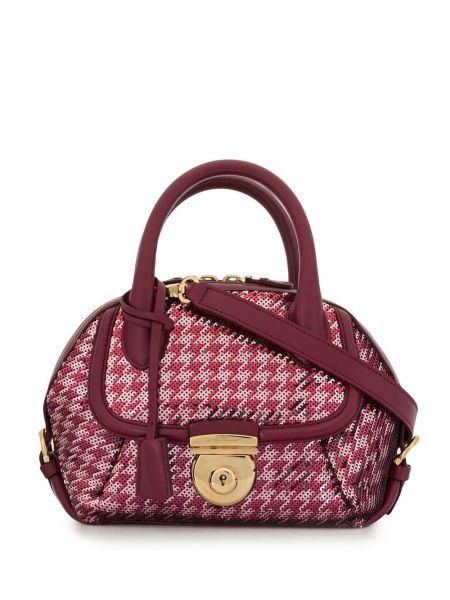 Розовая сумка-тоут круглая с пайетками металлическая Salvatore Ferragamo Pre-owned