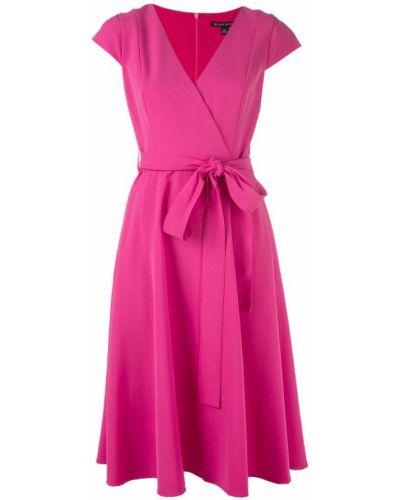 Розовое расклешенное платье мини с вырезом на молнии Black Halo