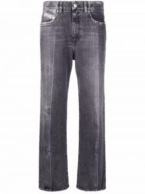 Укороченные джинсы - серые Diesel