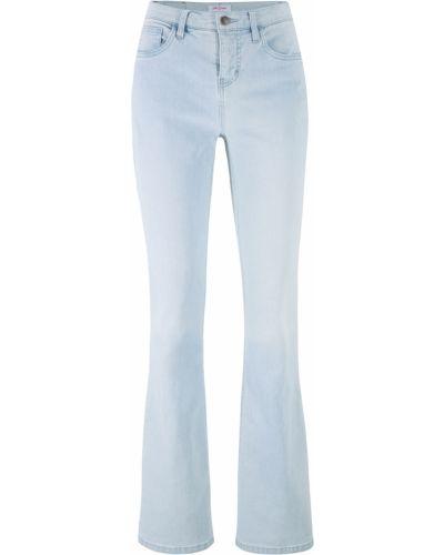 Расклешенные джинсы стрейч синие Bonprix
