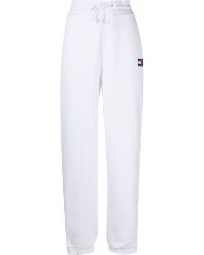 Хлопковые белые брюки с карманами Tommy Jeans