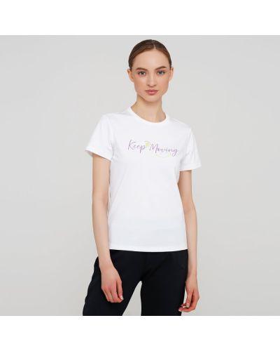 Прямая белая футболка с короткими рукавами Anta