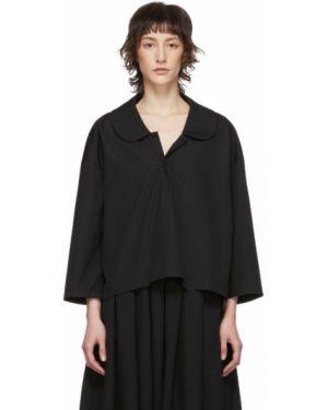 Блузка с длинным рукавом с воротником-стойкой в полоску Comme Des Garcons Comme Des Garcons