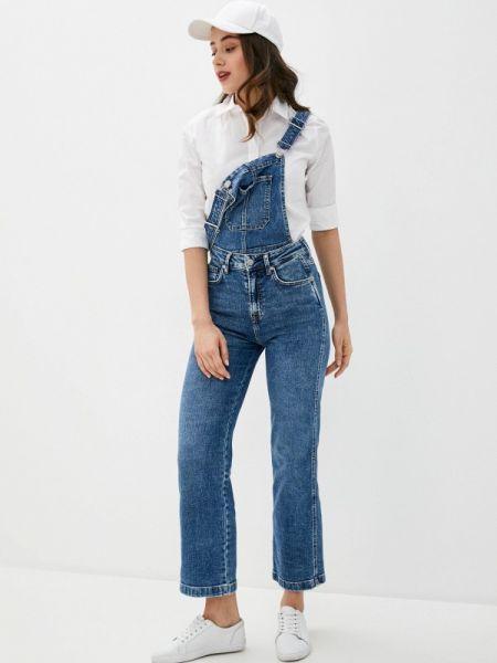 Джинсовый комбинезон синий Pepe Jeans