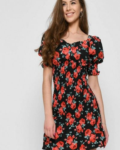 Черное весеннее платье Carica&x-woyz