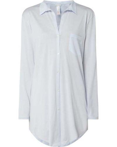Bawełna bawełna koszula nocna z kieszeniami z długimi rękawami Hanro