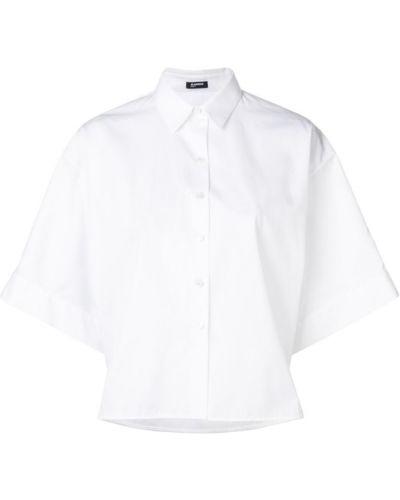 Классическая рубашка белая с коротким рукавом Jil Sander Navy