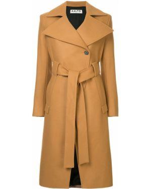 Однобортное шерстяное пальто с капюшоном Aalto