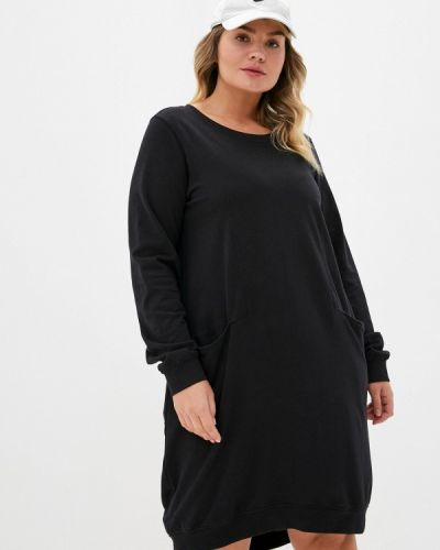 Повседневное черное повседневное платье Zizzi