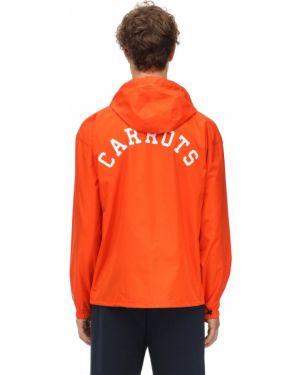 Pomarańczowa kurtka z kapturem z nylonu Carrots