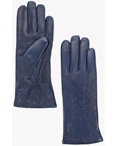 Синие кожаные перчатки Dr.koffer