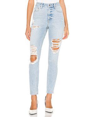 Рваные хлопковые джинсы на пуговицах Grlfrnd