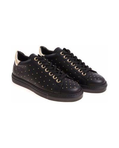 Кожаные ботинки - черные Twin-set