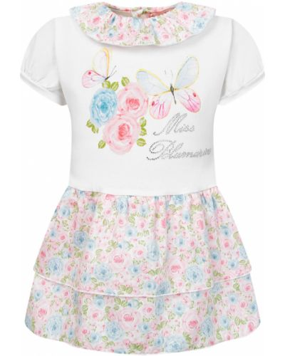 Хлопковое белое платье Miss Blumarine
