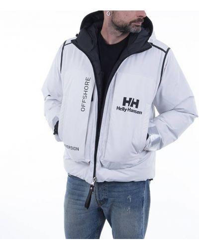 Белая дутая куртка двусторонняя Helly Hansen