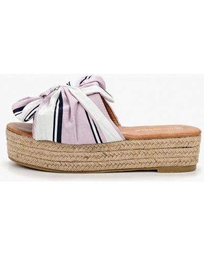 Сабо фиолетовый на каблуке Coco Perla